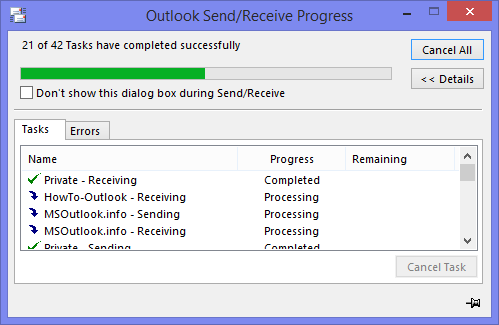 Five common Outlook Send Receive errors solutions