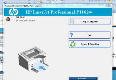 HP LaserJet P1102 in ERROR STATE