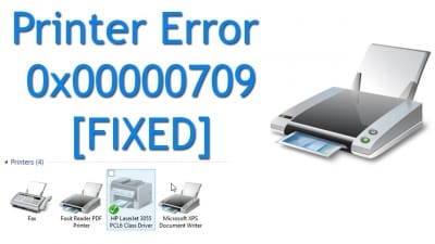 HP Printer Error 0X00000709