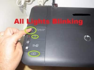 HP Printer Error All Lights Flashing