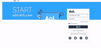 AOL Mail Sign In Screen Missing