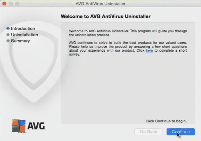 avg antivirus update stuck
