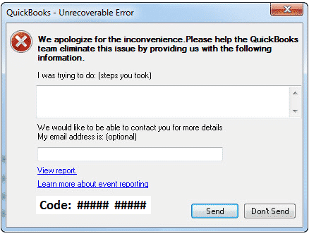 C 43 QuickBooks Error