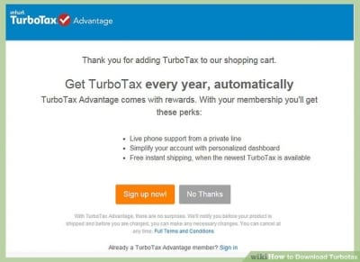 Cancel TurboTax Advantage Subscription