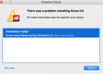Creative Cloud Installation Problems