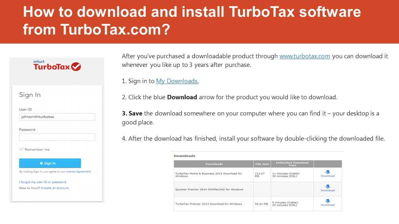 Download Install TurboTax Software