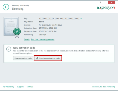 How to Enable Disable Kaspersky Auto-Renewal Plan?