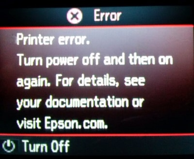 Epson Printer Error See Documentation