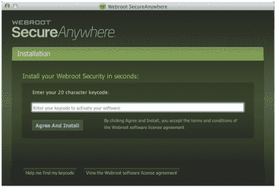 Find & Activate Webroot Keycode