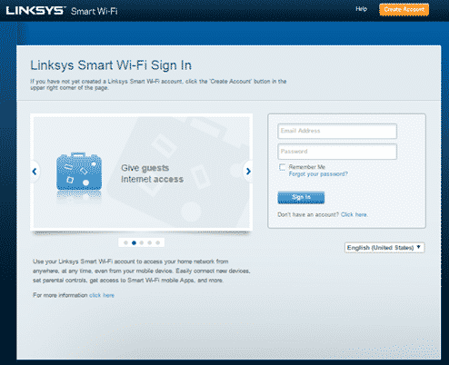 Change Wifi settings using Linksys cloud account