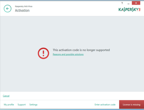 Kaspersky Error 0x804C0015 – Fix Expired Secondary Key File Error