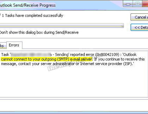Outlook Error 0x80042109 – Steps to fix the Outlook Error