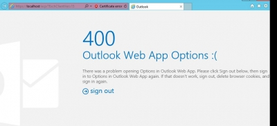 Outlook Error 400