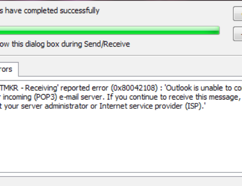 Outlook Error Code 0x80042108 – Resolve Outlook Errors