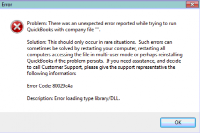 QuickBooks error code 80029c4a Windows 7 Archives - Contact Assistance