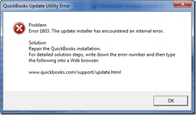 QuickBooks Update Error