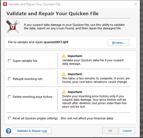 Quicken Not Adding Correctly