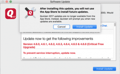 Quicken not Updating