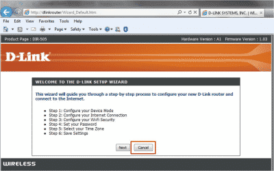 Upgrade D-Link Router Firmware