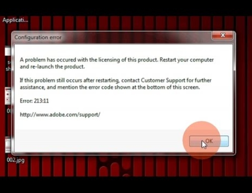 How to Troubleshoot Adobe Error 213.11?