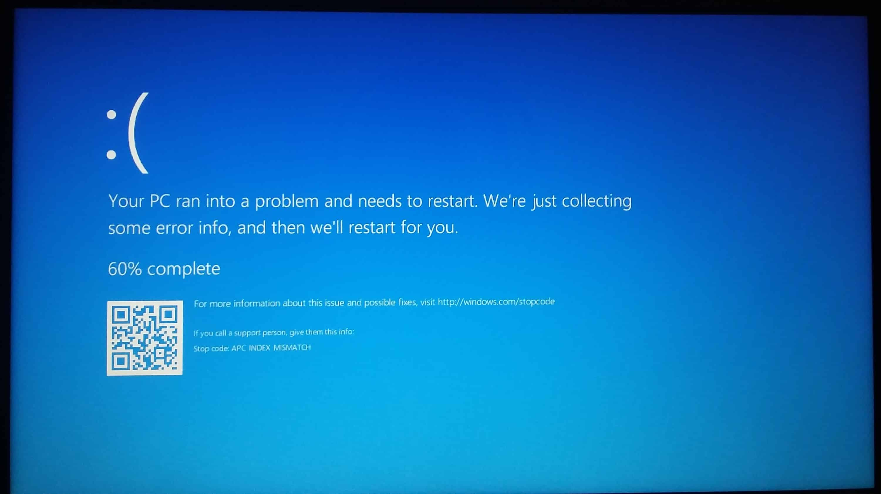HP Error Blue Screen
