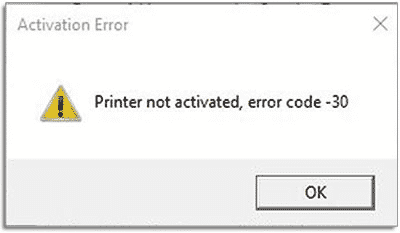 HP Printer Error 30