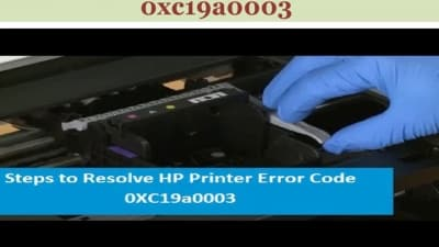 HP Printer Error Code 0xc19a0003
