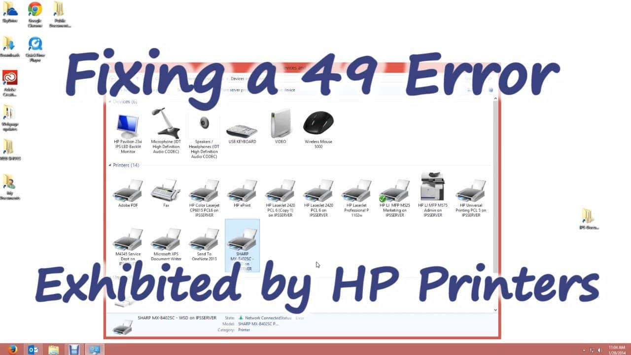 HP Printer Error Code 49