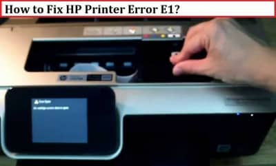 HP Printer Error E1