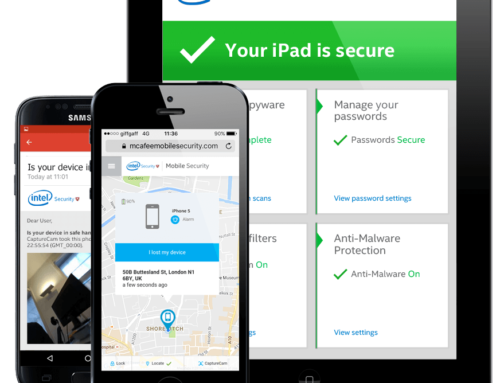 What are the Steps to Protect Mobile Device with McAfee LiveSafe?