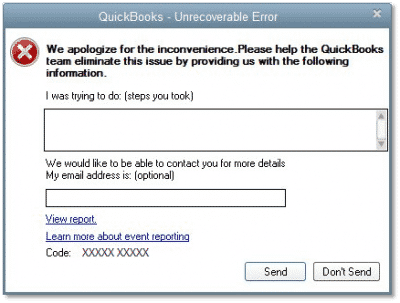 Quickbooks Error ps 101