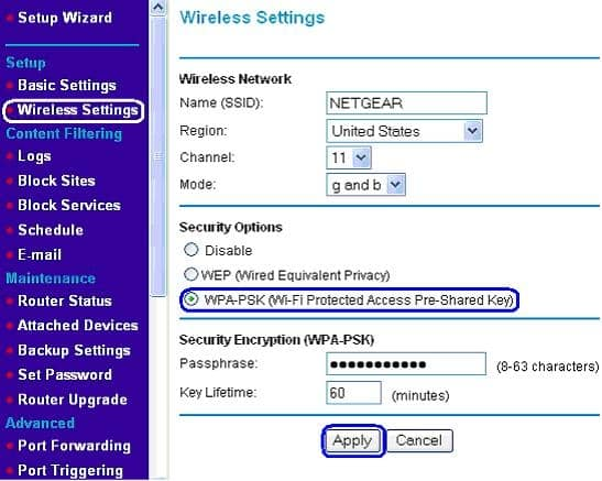 Reset Netgear Router Password