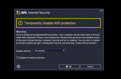 AVG System Tray Error