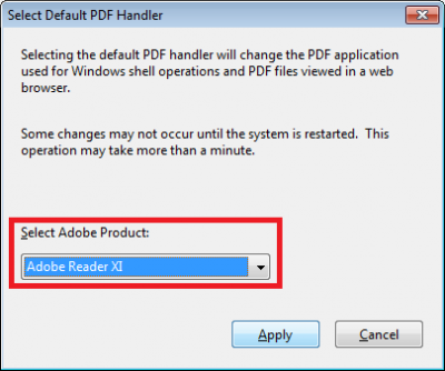 Adobe handler error