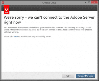 Adobe validation error