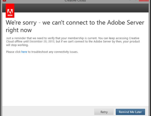 Simple guide to Fix Adobe validation error.