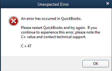 Quickbooks Error 47