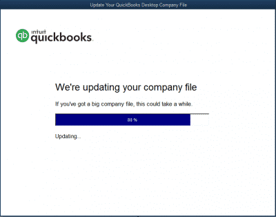 Quickbooks Error Updating Company File