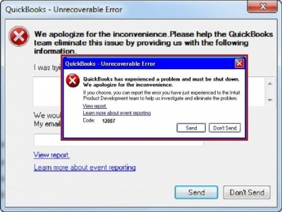 Quickbooks Error Event Id 4