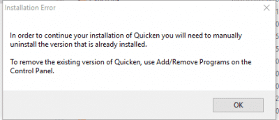 Quicken Download Error 101