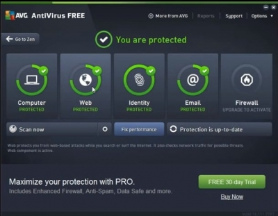 Removing AVG antivirus via AVG remover tool