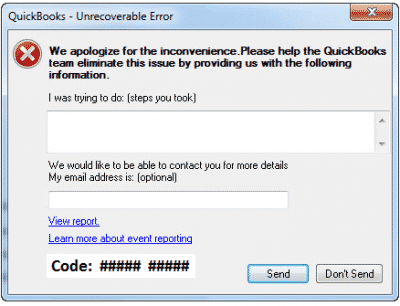 c=21 Quickbooks Error