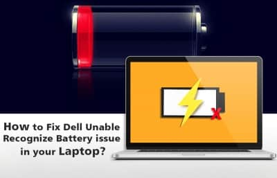 Dell Unable Recognize Battery
