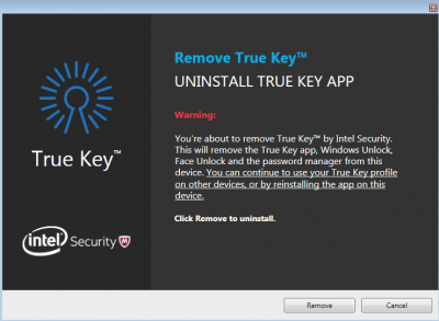 McAfee True Key
