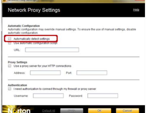 Did You Try this Method to resolve Norton Proxy Error?