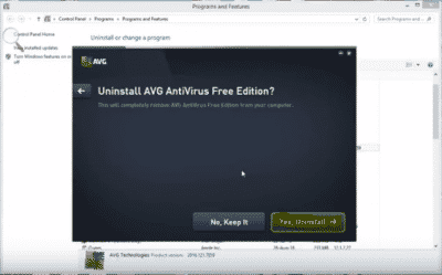 Uninstall AVG Antivirus