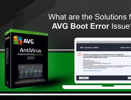 What are the Solutions for AVG Boot Error Issue?
