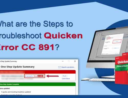What are the Steps to Troubleshoot Quicken Error CC 891?