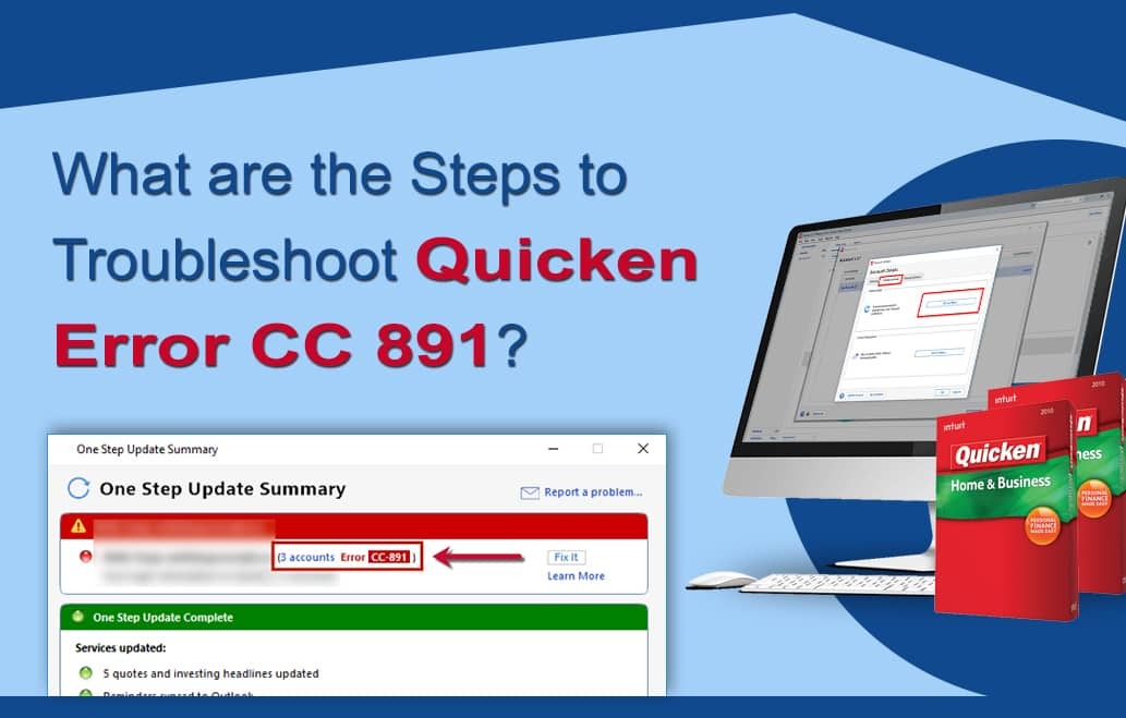 Quicken Error CC 891