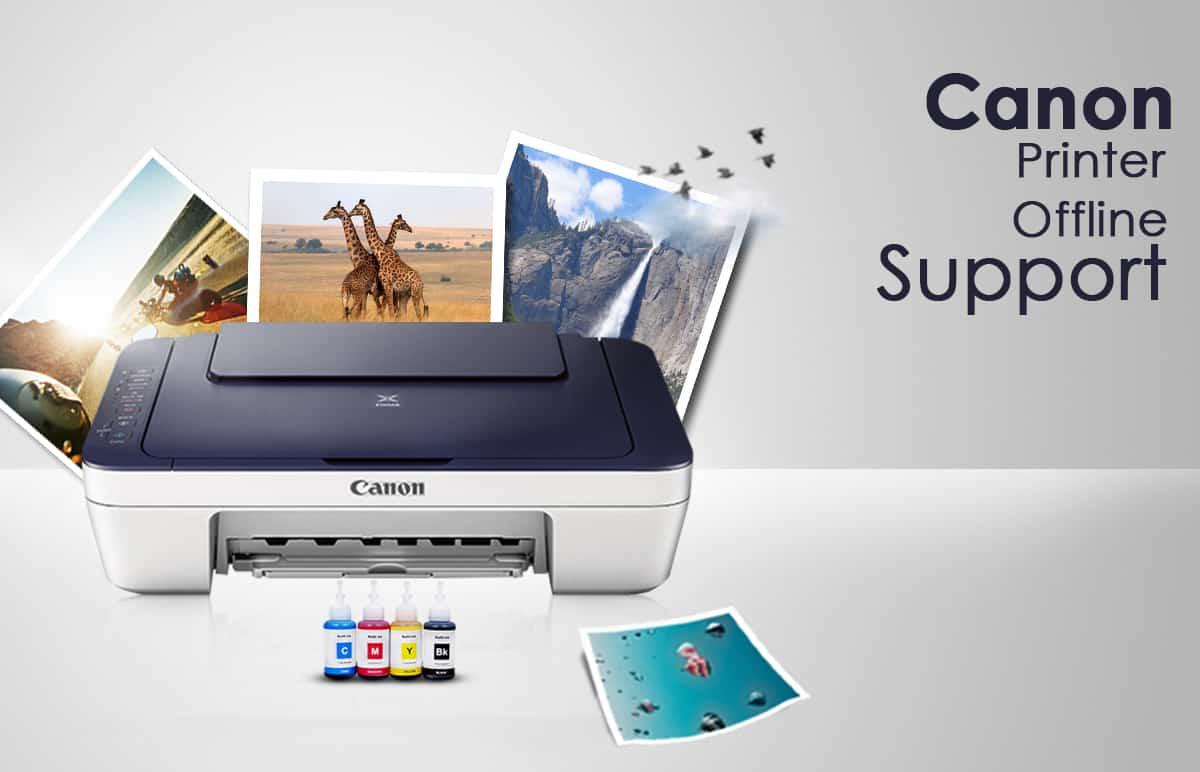 canon printer offline